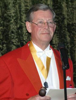 Toastmaster John Pye.