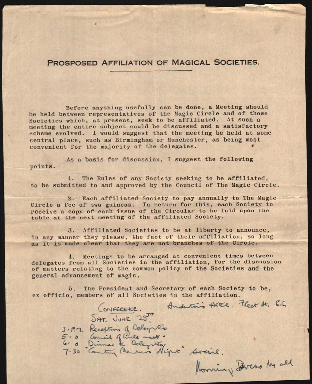 Magic Circle Affiliation & Membership of The National