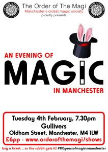 An Evening of Magic in Manchester @ Gullivers